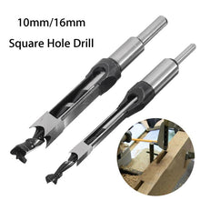 Load image into Gallery viewer, 10mm/16mm Square Hole Mortiser Drill Bit Mortising Chisel Woodworking Electric Drill Tools Mayitr