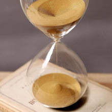 Load image into Gallery viewer, 60 Minutes Timing Hourglass Height 24cm Creative Gift Glass Sand Timer Sandglass Golden Sand Home Decoration reloj de arena