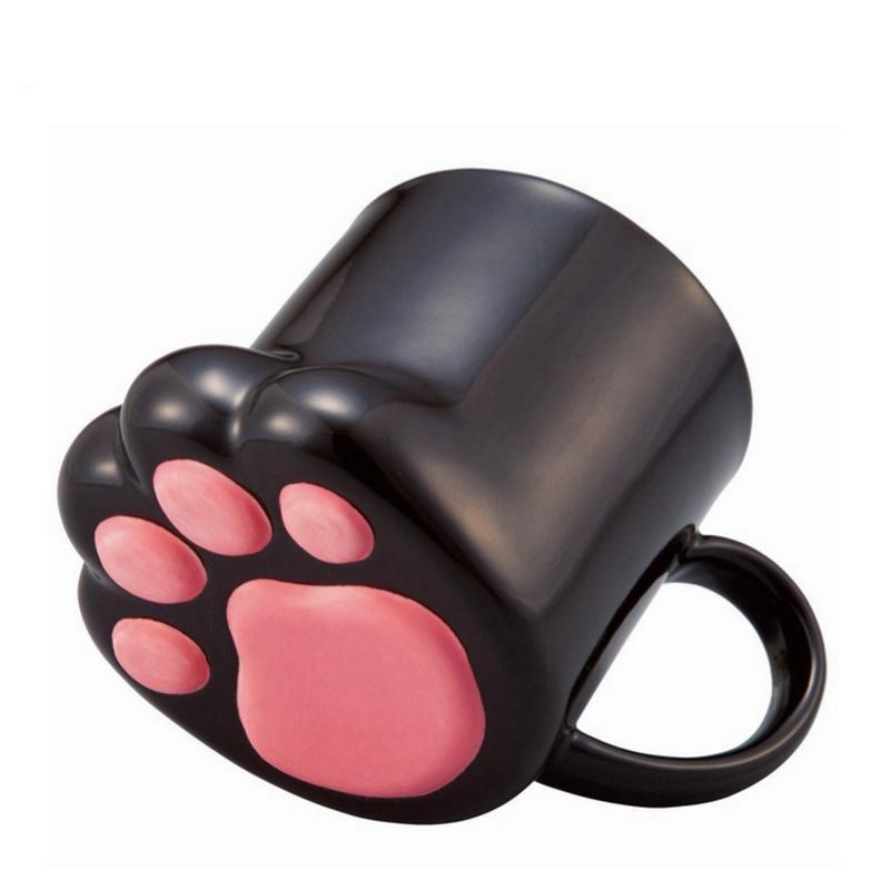 Cute Creative Cat Paws Ceramic Personality Milk Mug Office Coffee Tumbler Breakfast Mugs  MCC031