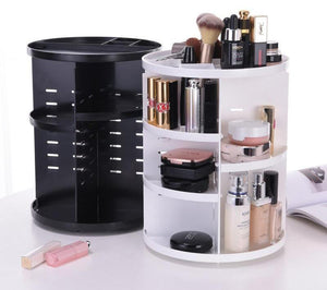 360 Degree Rotating Makeup Organizer - Make Up To 65% Room For Makeup Desk