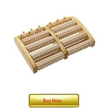 Load image into Gallery viewer, Stress Relief Wooden Dual Foot Roller Massager