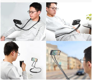 Neck Flexible Phone Tablet Holder - Watch Videos Without Holding Phone/Tablet Whole Time