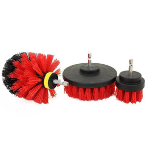 3 Pcs Power Scrub Cleaning Brush Kit For Drill