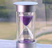 Load image into Gallery viewer, Hot Sale Plastic Crystal Hourglass 30 Minutes Sand Clock Decoration Hourglass Timer(30min, Purple)