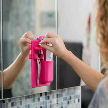 Load image into Gallery viewer, Silicone Toothbrush Holder Bathroom Organizer