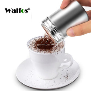 New Stainless Steel Chocolate Shaker Cocoa Flour Salt Powder Icing Sugar Cappuccino Coffee Sifter Lid Shaker Kitchen Tools