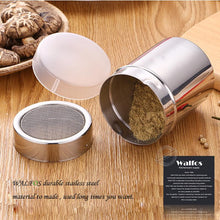 Load image into Gallery viewer, New Stainless Steel Chocolate Shaker Cocoa Flour Salt Powder Icing Sugar Cappuccino Coffee Sifter Lid Shaker Kitchen Tools