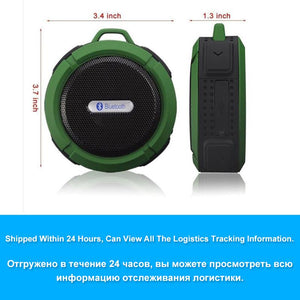 Portable Waterproof Outdoor Wireless Car Bluetooth Speaker C6 bluetooth  altavoz   for iPhone xiaomi MP3 MP4 Huawei Samsung  LG