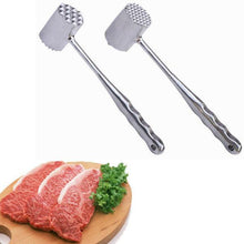Load image into Gallery viewer, Double Sided Aluminum Tender Meat Hammer Pork Beef Chicken Mallet Kitchen Tool