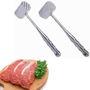Double Sided Aluminum Tender Meat Hammer Pork Beef Chicken Mallet Kitchen Tool