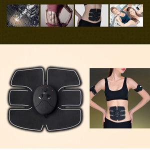 Smart EMS Electric Pulse Treatment Massager Abdominal Muscle Trainer Wireless Sports Muscle Stimulator