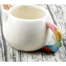 Load image into Gallery viewer, Ceramic Coffee Mug 300ml Cute Gold Stereo Unicorn Cup Rainbow Horse Cup Creative 3D Cartoon Porcelain Mugs Drinkware
