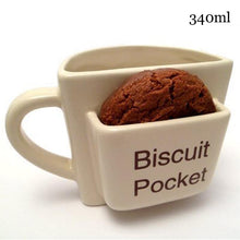 Load image into Gallery viewer, Creative Coffee Mug With Biscuit Pocket Mugs Ceramic Breakfast Milk Afternoon Tea Mugs For Home Office Drinkware Cups