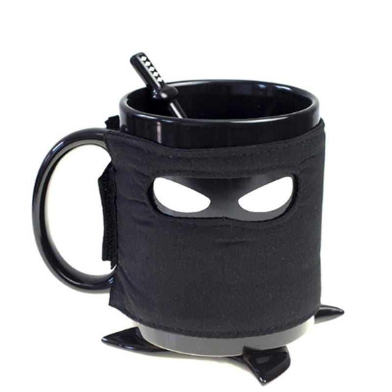 Creative Ninja Coffee Mug - With Spoon - 350ml - Ninja Mug - Special Mug -  Beautiful Cup