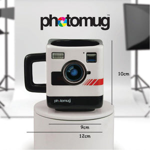 Creative Photo Mug 350ml New Fashion Coffee Mug British Mustard Photo Polaroid Camera Lens Cup For Office Novelty Gift