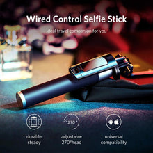 Load image into Gallery viewer, Selfie Stick With Button Wired With Mirror