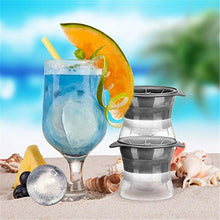 Load image into Gallery viewer, WALFOS FOOD GRADE 1  piece silicone Sphere Ice Molds Perfect Ice Ball Maker for Slow-melting Beverage Chillers 2.5 Inch Ball