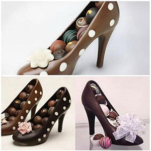 WALFOS Fondant High Heel Shoe Chocolate Mold Baking DIY 3D Stereo Lady's Shoes Candy Mould Sugar Paste Mold For Cake Decoration