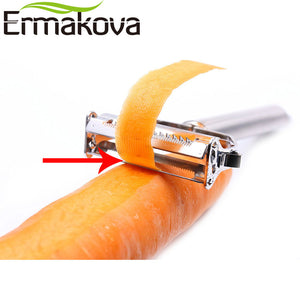 Stainless Steel Dual Fruit Vegetable Peeler & Julienne Peeler / Cutter