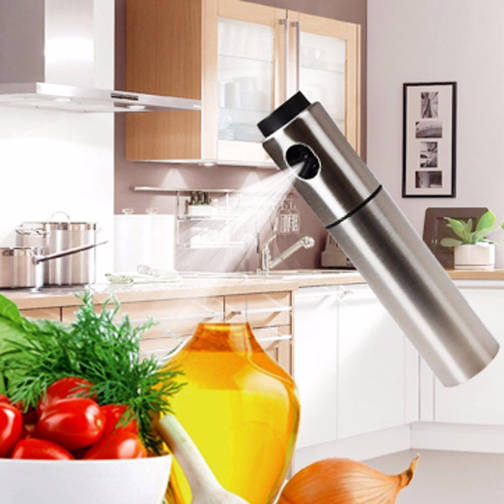 Silver Stainless Steel Olive Oil Sprayer
