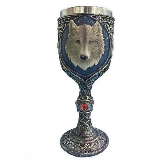 Stainless Steel Wolf 400ml Drinking Cup - Great Gift Idea