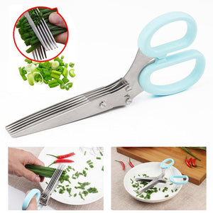 Stainless Steel 5 Layers Scissors