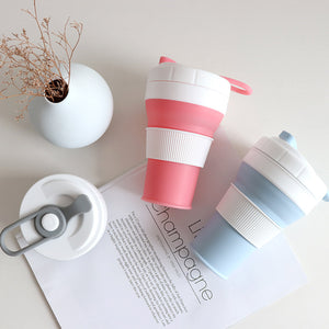 BPA-Free Retractable Travel Coffee Cup