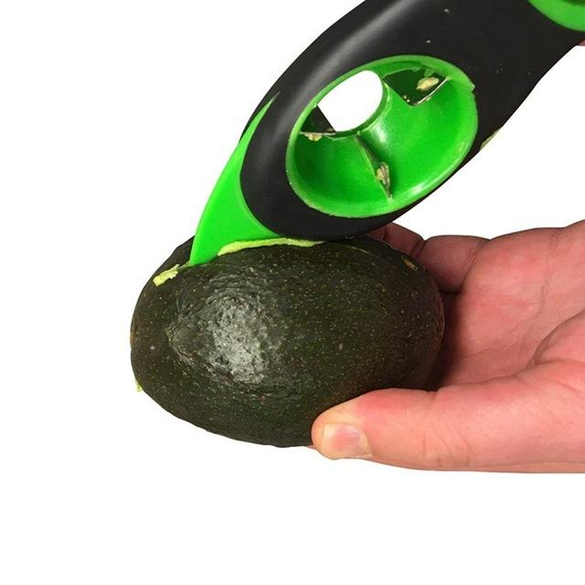 Multi-functional 3-in-1 Avocado Cutter