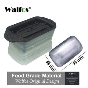WALFOS FOOD GRADE 1  piece silicone Sphere Ice Molds Perfect Ice Ball Maker for Slow-melting Beverage Chillers 2.5 Inch Ball
