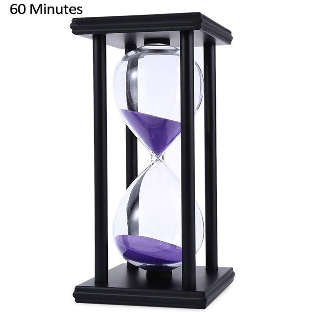 Modern Wooden 60 Minutes Hourglass Sand Timer Hour Glass