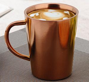 Thickened Double Wall Stainless Steel Coffee Mug - 350ml
