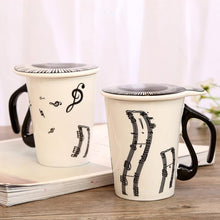 Load image into Gallery viewer, Novelty Music Mugs Personality Tea Cup Creative Ceramic Cup Notes Mark Water Cup Keyboard  Coffee Cup Christmas Gifts