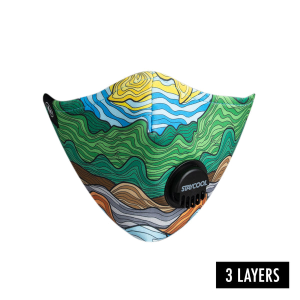 COOL MASK 3 PLY VALVE 'NATURE'
