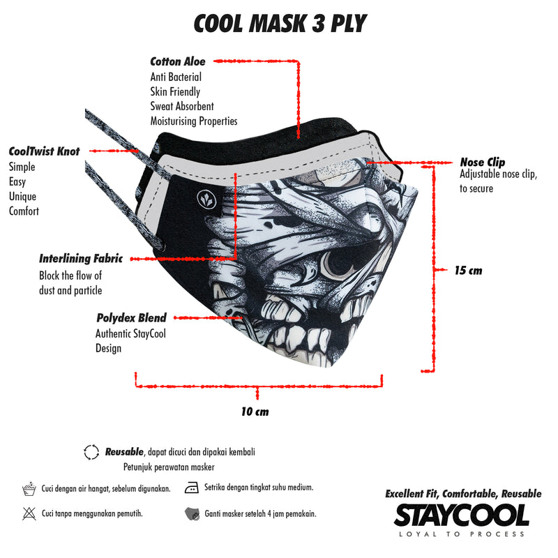 COOL MASK 3 PLY 'DEMIGOD'