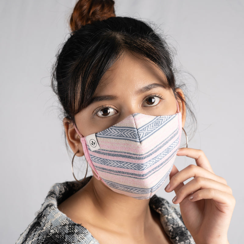 COOL MASK WOMEN KNIT 3 PLY 'SERAPINK'