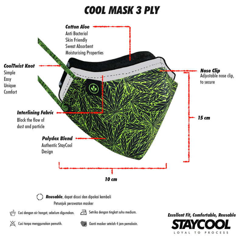 COOL MASK 3 PLY 'RADIANT SCENT'