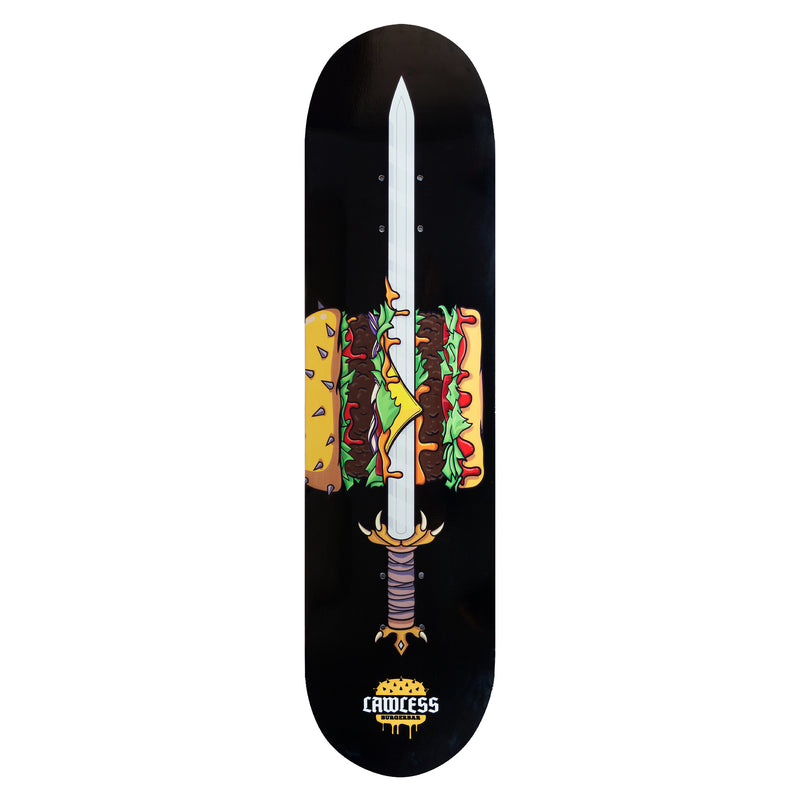 "STCL X LAWLESS SKATEBOARD DECK 8"" - LAWLESS BURGERBAR"