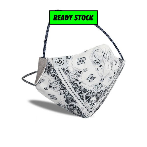 COOL MASK WOMEN 'WHITE PAISLEY'