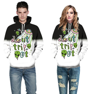 'Don't trip out' Alien Sweatshirt Streetwear Hoodie Allover - BernardoModa