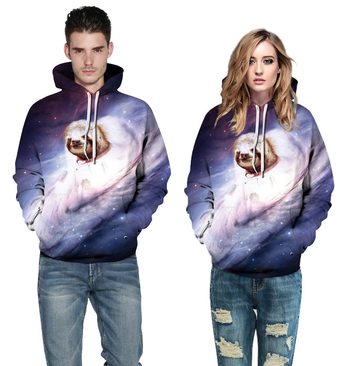 Galaxy Cute Animal Sweatshirt Streetwear Hoodie Allover - BernardoModa