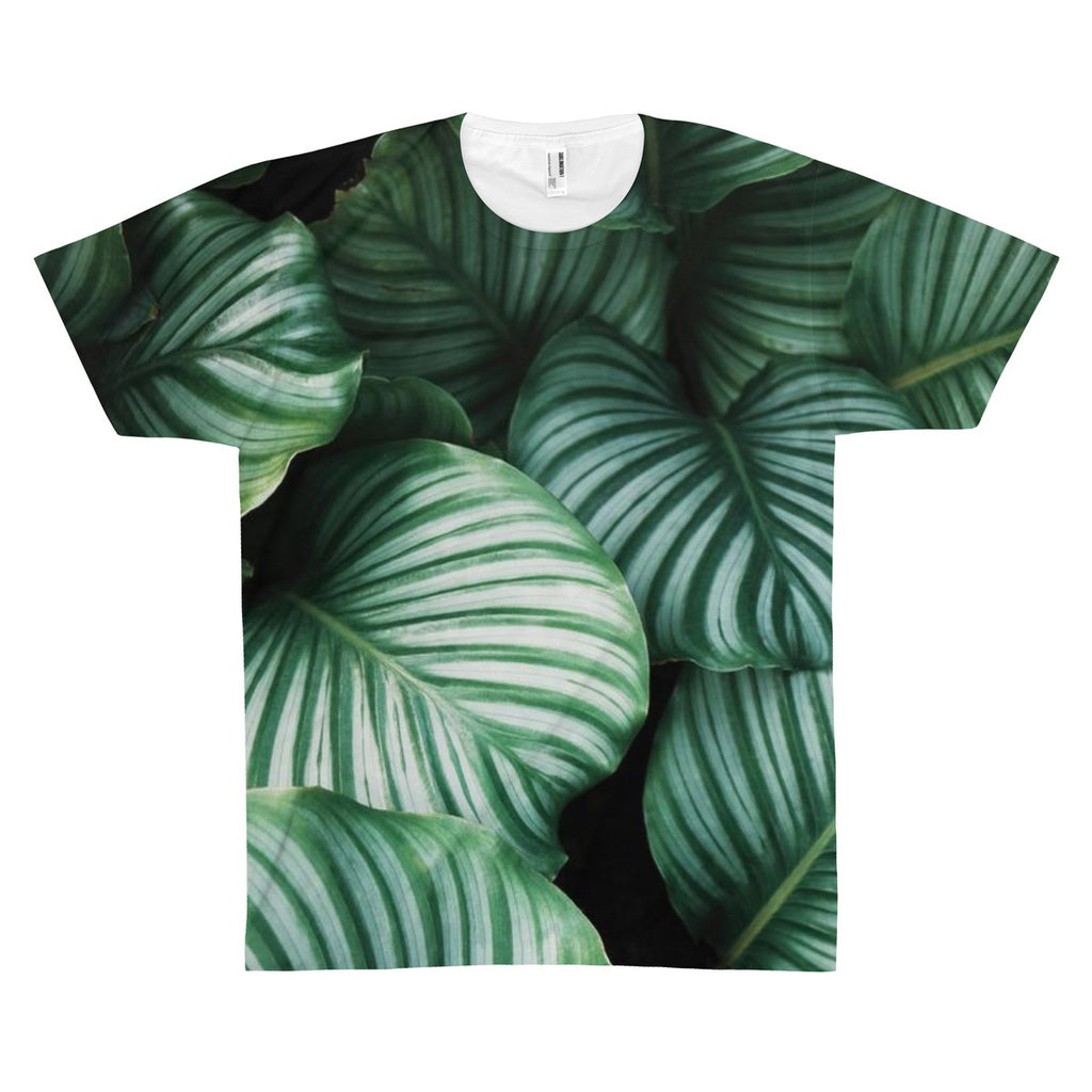 Tree Leaves High-Quality Allover Print Tee