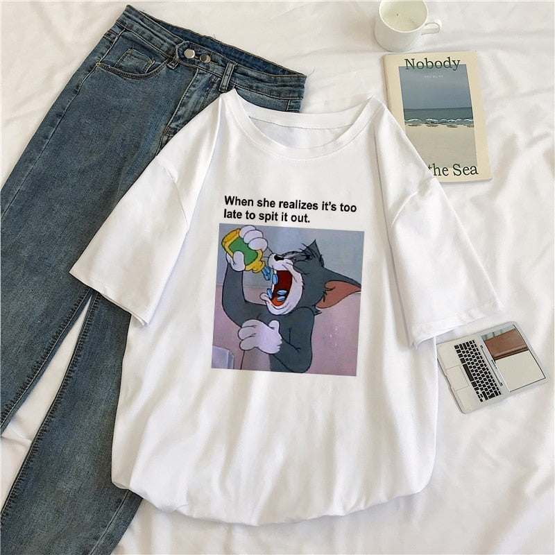"Tom And Jerry ""Taking Pills"" Meme Tee's - BernardoModa"