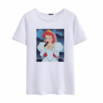 Disney Princess Middle finger White Tee - BernardoModa