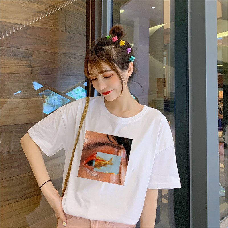 Fish Eyes Women Harajuku Aesthetics Grunge Shirt - BernardoModa