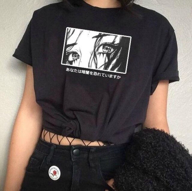 Anime Aesthetic Aesthetic Art Black Tee Shirt