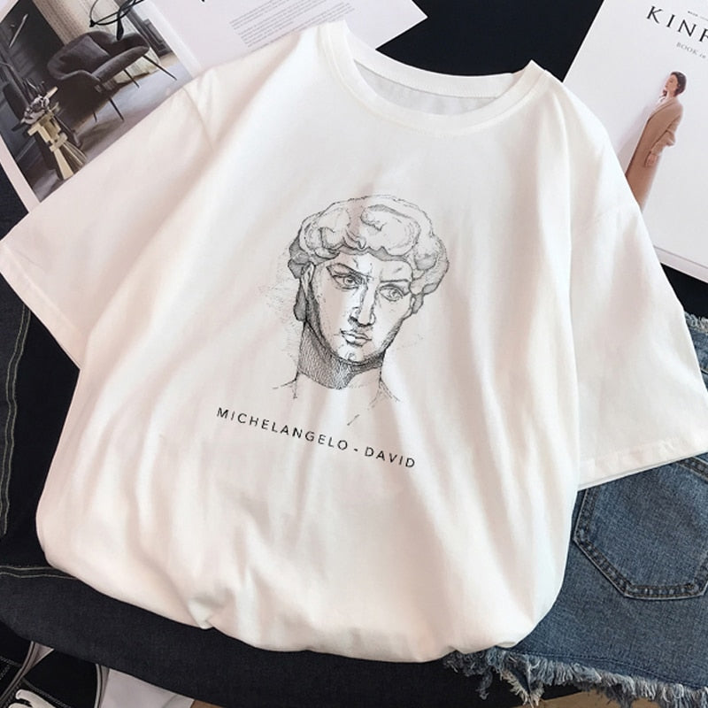 Renaissance Art White Aesthetic Tee Shirt