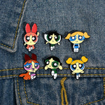Powerpuff Girls Cartoon Enamel Pin