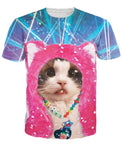 Cute Kitten Allover Print Tee - BernardoModa