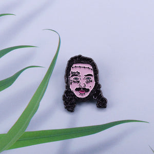 Rapper Post Malone Pin Music Art Jewelry Gift for Hip Hop Fan Pin