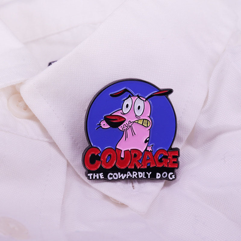 Courage Cowardly Dog Cartoon Animal Lapel Pin Jewelry Gift